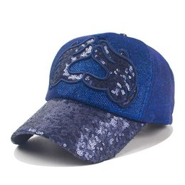 Wholesale Sequin Snapback - Brand New Baseball Caps for Women Men Casquette Sequin Snapback Hat Sport Camping Gorras Boy Women's Fashion