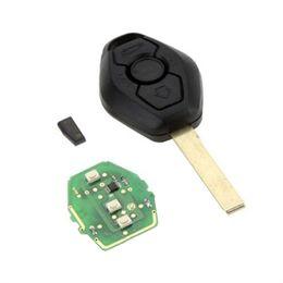 Wholesale Bmw Z3 Keyless Remote - New 315MHz Keyless Entry Remote Key Fob Transmitter Clicker Uncut Blade with chip For BMW 1 3 5 6 7 X3 X5 Z3 Z4 hot selling