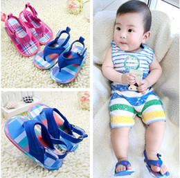 Wholesale Barefoot Sandals For Boys - Wholesale-2015 Baby Girls Boys Summer Style Newborn Barefoot Sandals Clip Flip Flops Soft Soles First Walkers Toddler Shoe For Bebes 0-18M