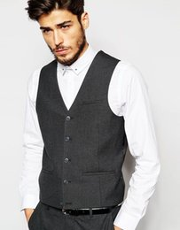 Wholesale Casual Grey Suit Vest in Bulk from Best Casual Grey Suit