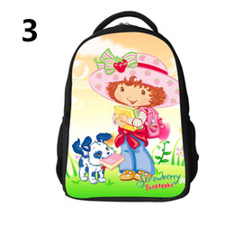Wholesale Schools Bags Strawberry - Strawberry Shortcakes Style School Bags Strawberry Shortcakes Style backpacks Cartoon school bag 3D schoolbag Leisure backpacks H0636b