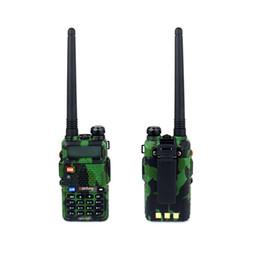 Radio de camouflage en Ligne-Gros-Nouveau BaoFeng UV 5R Talkie Walkie Camouflage Pofung Radio UV-5R Radio bidirectionnelle 5W 128CH UHFVHF Handy Transceiver Intercom