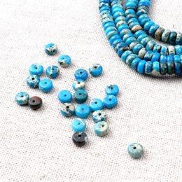 Wholesale Wholesale Loose Bohemian Jewelry - Synthetic Turquoise Loose Beads Wheel Shape Stone Loose Beads Bohemian Boho Style Jewelry BYYLS0306 136pcs strand