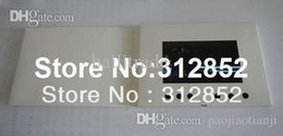 Wholesale Led Christmas Business Cards - Hot 5.0inch LCD Video Brochure Digital advertising player LCD Video greeting card Video-in-print video business card