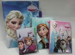 Wholesale Wholesale Notepads Pen - Frozen Book Notebook with a Pen Student Diary Frozen Elsa, Frozen Anna Book Student Notepad 11*7CM 60pages