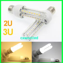Wholesale Cfl Led - 2016 NEW 2 3 4 U Shape LED corn bulb energy saving led E27,led bulb replace CFL lamp,home decoration,warehouse office