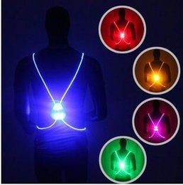 Wholesale Reflective Vest Led - 5 Colors LED Running Vest Belt High Visibility With Reflective Belt for Safety Running and Cycling