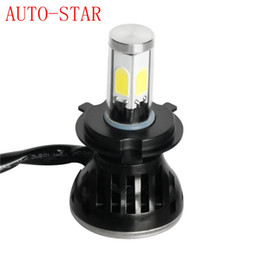 Alta qualità All in one H4 9V-36V 40W 4000ML 4 LED COB LED faro per auto Lampadina bianca con ventola Play Plug per Automotives Lampada frontale da