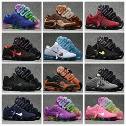 Wholesale Cheap Running Shoes For Womens - 2018 New Running Shoes For Mens Womens VaporMax Sports Shoes Cheap High Quality Outdoor Athletic Plastic Surface Hot Sale Sneakers Size 5.5-