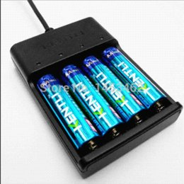 Wholesale Kentli Lithium - KENTLI 4pcs 1.5v 2800mWh Li-polymer li-ion polymer lithium rechargeable AA battery + 4 slots USB smart Charger