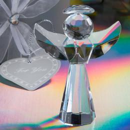 Favori figurine online-Le figurine di angelo di vetro scolpito nozze di 50PCS / LOT Bomboniere favoriscono il trasporto libero