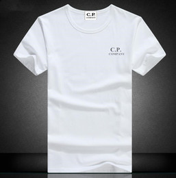 Wholesale Men Company - Hot fashion men summer CP COMPANY t shirts turn-down collar short sleeve men casual tees plus size S-XXXL free shipping