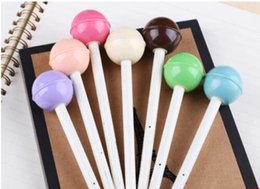 Wholesale Candy Colored - Free Shipping New Cute candy colored lollipops gel pen   Fashion Style Gift 30pcs lot Stationery