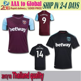 Wholesale Red Ham - New 2017 WestHam United Soccer Jersey 2016 17 Home Red Away White Soccer Jersey 16 17 West Ham Football Shirts Thai Quality Jeresys