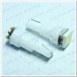 Wholesale T5 Dash Lights - Wholesale 300Pcs T5 1 LED 5050 1 smd Car Lights LED Bulb T5 Lamp Dash Light Indicator Bulb