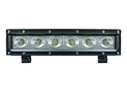 Wholesale 11 Inch Led Truck Light - 11 inch 30W CREE single row spot flood beam 4x4 accessories LED offroad light bar for ATV SUV truck 12V 24V IP67