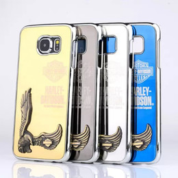 Wholesale Eagles Iphone - Luxury 3D Embossed Eagle Wing Case For iPhone 6 6plus 5 5s Galaxy S5 S6 note 3 Hard Deluxe Cover Cases