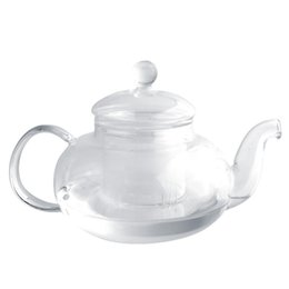 Wholesale Glass Tea Sets Wholesale - Practical Heat Resistant Cup Glass Teapot with Infuser Tea Leaf Herbal Coffee Home Office 350ML Drop Shipping