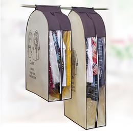 Al por mayor- Elegir tela no tejida que cuelga ropa a prueba de polvo Traje de la cubierta del vestido Bolsas de prendas de vestir de almacenamiento suave desde fabricantes