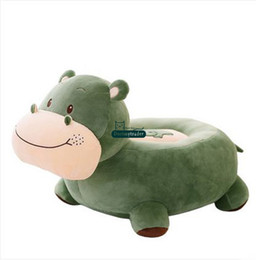 Wholesale Plush Hippo - Dorimytrader New 65cm X 45cm X 40cm Lovely Stuffed Soft Plush Big Cartoon Animal Hippo Baby Sofa Toy 2 Colors Free Shipping DY60886