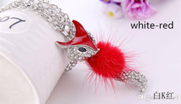 Wholesale Trendy Sweaters For Women - 2015 Hot Selling Trendy Colorful Foxes Design Girls Zinc Alloy Necklaces & Pendants For Women Link Sweater Chain Decoration Gift Promotion