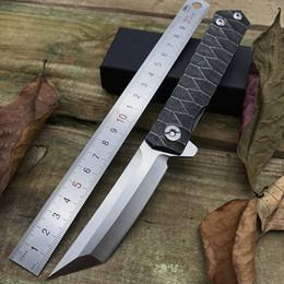 Cool Katana style D2 lame tanto en acier inoxydable poignée flipper roulement à billes camping edc outils de randonnée tactique de survie pliant couteau de poche ? partir de fabricateur
