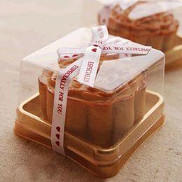 Wholesale mooncake package - Plastic Box Single Individual Cake Boxes Golden Bottom Plastic Mooncake Boxes Food Gift Packaging 5*5*4 cm