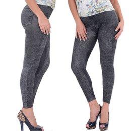 Wholesale Bootcut Jeggings - Sexy Women Denim Look Skinny Jeggings Stretchy Slim Leggings Jeans Pencil Pants