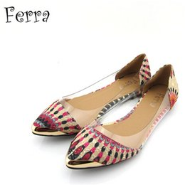 Wholesale Vintage Comfort - Fashion Trend Casual Shoes Peacock Pattern Vintage Pointed Shoes Asymmetric Pattern Comfort Flats Loafers for 325-3