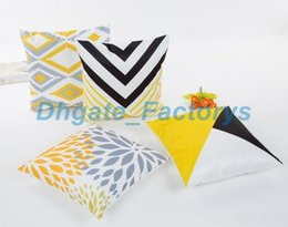 Wholesale Digital Printed Satin - The simulation silk pillowcase Material satin digital printing personality geometry leaf pillow case Home hotel cushion cover