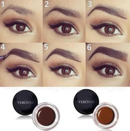 Wholesale Eyebrow Dye Color - VERONNI 8 colors Do not take off makeup sweat resistance persistent modification eyebrows Toning nourishing cream paste dye eyebrow cream