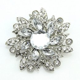 Wholesale Ruby Star - Free postage 2016 new Bauhinia foreign trade fashion rhinestone brooch brooch pin hot selling acrylic glass exclusive wholesale sales