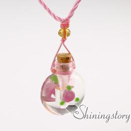 Canada aromathérapie inhalateur verre vénitien parfum pendentif diffuseur huile essentielle collier Offre