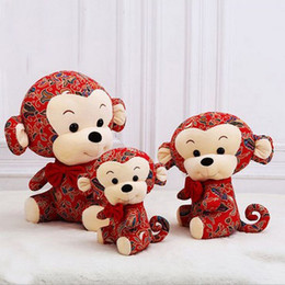 Wholesale Old Fashion Toys - 2016 new plush toy chinese new year monkey fashion stuffed monkeys holiday gift for adults or kids