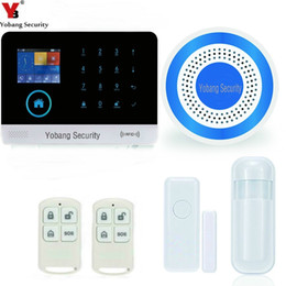 Wholesale Intruder Burglar Alarms - YobangSecurity Touch Screen RFID Wireless Wifi GSM Auto Dial Home House Office Security Burglar Intruder Alarm