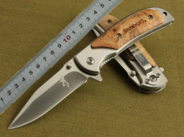 Wholesale browning 338 - Browning 338 hunting knife 440 blade 57HRC EDC Folding knife pocket Survival camping Knife knives new in original box