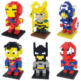 Wholesale Marvel Toys Mini - Avengers Building Blocks Captain America Spiderman ironman superman hulk Super Heros Minifig Mini Action Figure Toys Ninja figures marvel