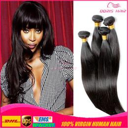 Mejor pelo libre de enredos de pelo online-7A La mejor calidad del cabello remy brasileño sedoso y recto 4 paquetes sin enredos que se desprenden de forma sedosa y recta El cabello humano remy vrigin teje libre de DHL