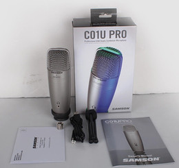 Wholesale Pro Audio Wire - Original SAMSON C01U Pro USB Studio Condenser Microphone for recording music, ADR work, Sound Foley, audio for YouTube videos free shipping