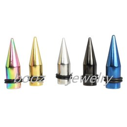 Wholesale steel ear tapers - Ear taper plugs tunnel piercing body jewelry ear gauges 1.6-10mm 90pc lot Free shipping