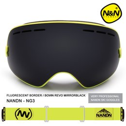Wholesale Red Ski Goggles - NG3 Snowboard Ski Goggles Large spherical lens Professional Double-dlayer Skiing Goggles