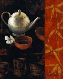 Wholesale Teapot Rhinestones - teapot cup oil Painting handcraft square full drill rhinestone Embroidery Diy Diamond painting Mosaic Rhine Cross stitch