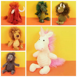 Wholesale Plush Lion Stuffed Animal - 6 Styles 38cm INS Plush Unicorn Toys Cartoon Wild Boar Dinosaur Crocodile Lion Elephants Stuffed Animal Soft Toys Kids Gifts CCA8324 50pcs