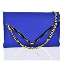 Wholesale Womens Fashion Tops Small - TOP Sale Womens Envelope PU Leather Clutch Chain Purse Fashion Messenger Handbag Tote Shoulder bag B3
