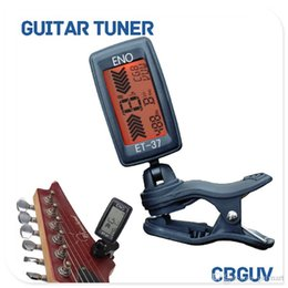 Wholesale ukulele bass - ENO ET-37 LCD Mini Clip-on Electronic Guitar Chromatic Bass Violin Ukulel Tuner Wind Instrument Universal MU0434