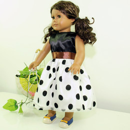 Wholesale Dolls Clothes - Wholesale Brand New Christmas Gifts For Children Girls Doll Accessories Fashion Dress For 18'' American Girl Dolls Clothes