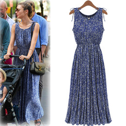 Wholesale Maternity Maxi Dresses For Summer - 927# Summer New Bohemian Retro Floral Slim Maternity Maxi Long Dress Europe Station Style Clothes for Pregnant Women