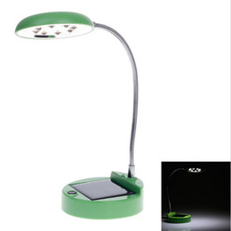 Wholesale Solar Indoor Reading Lights - NEW Finenav Green Solar Power Study Desk Light Lamp Learning Table Camping Reading Sensor Lights for home high qaulity TD-1 Free Shipping