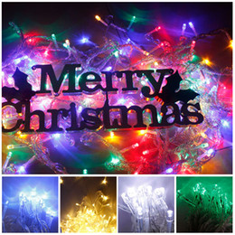 Wholesale White Leds For Car - 100m 480 leds christmas party lights fairy string colorful led lights for car tree home decoration led christmas light free shipping