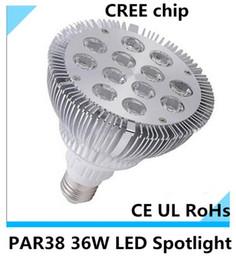 Wholesale Gs Jewelry - 10pcs PAR38 E27 36W Led Lamps Bulb 86-265V High Power LED spotlight 12 * 3W ceiling light led lamps e26 jewelry store lamp